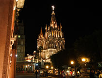 Die Parroquia Kirche, San Miguel de Allende, Guanajuato, Mexiko Lizenzfreie Stockfotografie