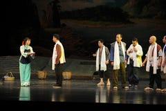Die patriarchalische Gesellschaft Jiangxi-Oper eine Laufgewichtswaage Stockbilder
