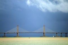 Die Penang-Brücke, Malaysia ist die längste Brücke in Südostasien Stockfoto
