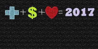 Die perfekte Gleichung für 2017 Mit dem freien Raum, zum des Textes zu addieren Lizenzfreie Stockbilder