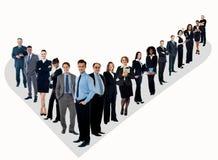 Die perfekte Gruppe von Geschäftsleuten stockfotos