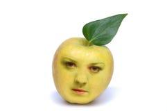 Die Person im Apfel Stockbilder