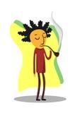 Die Person raucht ein Gefäß Stockbild