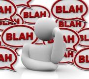 Die Person störte durch andere sprechend Lizenzfreie Stockfotos