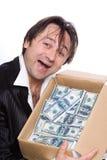 Die Person und das Geld Stockfoto