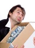 Die Person und das Geld Stockfotografie