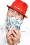Die Person und das Geld Lizenzfreie Stockfotos
