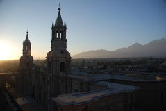 Die peruanische Stadt von Arequipa Lizenzfreie Stockfotos