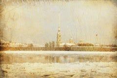 Die Peter-und Paul-Festung, St Petersburg stockfoto