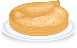 Die Pfannkuchen gesetzt durch einen Stapel Lizenzfreies Stockfoto
