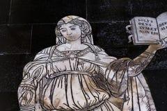 Die Pflasterung von Siena-Kathedrale, Siena, Italien Lizenzfreie Stockfotografie