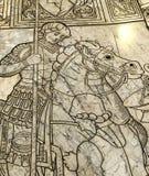 Die Pflasterung von Siena-Kathedrale, Siena, Italien Stockfotografie