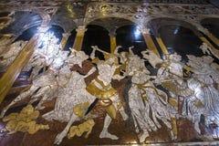 Die Pflasterung von Siena-Kathedrale, Siena, Italien Stockbilder