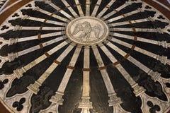 Die Pflasterung von Siena-Kathedrale, Siena, Italien Stockfoto