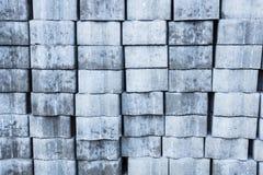 Die Pflasterungsblockmaurerarbeit bereitete sich für workingbackground Beschaffenheit vor Lizenzfreie Stockfotos