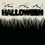 Die Phrase Halloween und Schläger vektor abbildung