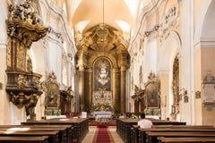 Die Piarist-Kirche lizenzfreies stockfoto