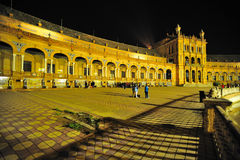 Die Piazza de España Nightshot Stockfotografie