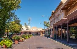 Die Piazza in Santa Fe, New Mexiko lizenzfreie stockbilder