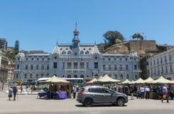 Die Piazza Sotomayor, in Valparaiso chile Lizenzfreie Stockbilder
