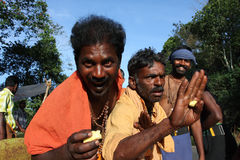 Die Pilgerer in Indien Lizenzfreies Stockfoto