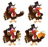 Die Pilgerer-Türkei-Set Lizenzfreies Stockfoto