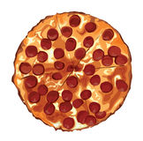 Die Pizza Lizenzfreies Stockbild
