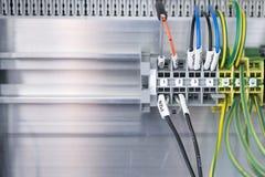 Die Plattenverbindung des elektrischen Drahtes Lizenzfreie Stockfotografie