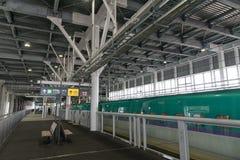Die Plattform von Shin-Hakodate--Hokutostation Lizenzfreies Stockfoto