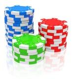 Die Pokerchips Stockfoto