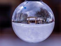 Die Polebridge-Café-Winter-Szene stockfotografie