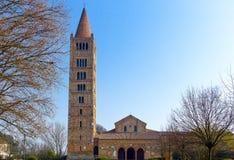 Die Pomposa-Abtei von Codigoro Stockbild
