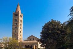 Die Pomposa-Abtei von Codigoro Lizenzfreie Stockbilder