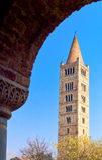 Die Pomposa-Abtei von Codigoro Stockfoto