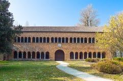 Die Pomposa-Abtei von Codigoro Stockfotos