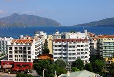 Die populäre Urlaubsstadt - Marmaris in der Türkei Stockfotos