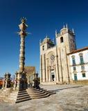 Die Porto-Kathedrale ist eine populäre Touristenattraktion von Portugal Stockbild