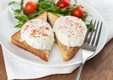 Die poschierten Eier lizenzfreie stockfotos