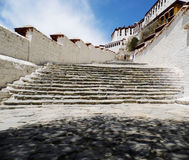 Die Potala-Palast Treppe Stockbild