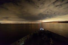 Die Präsidentenbrücke in Ulyanovsk Lizenzfreies Stockbild
