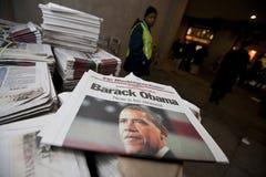 Die Präsidenteneinweihung von Barack Obama Stockbild