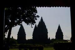 Die Pracht des prambanan Tempels Stockbild