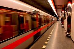 Die Prag-U-Bahn Stockfotos