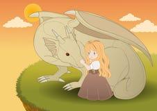 Die Prinzessin des Drachen Stockbild