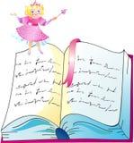 Die Prinzessin mit Buch Stockbilder