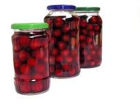 Die Produkte mit Frucht Stockfotos