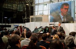 Die Produkteinführung des Dacia Staubtuchs Lizenzfreies Stockfoto
