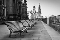 Die Promenade in Dresden lizenzfreie stockfotos