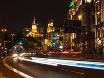 Die Promenade nachts Stockfotos