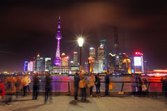 Die Promenade in Shanghai Stockbild